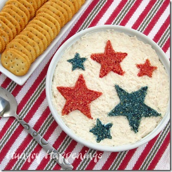 decorated dip and crackers