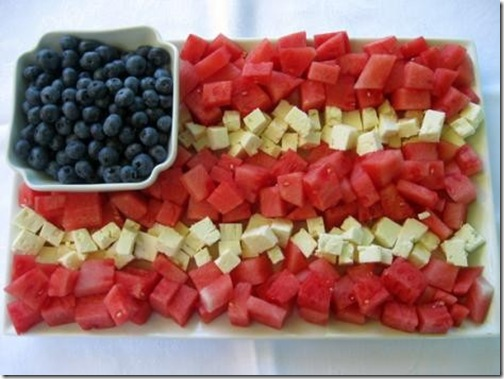 patriotic food tray