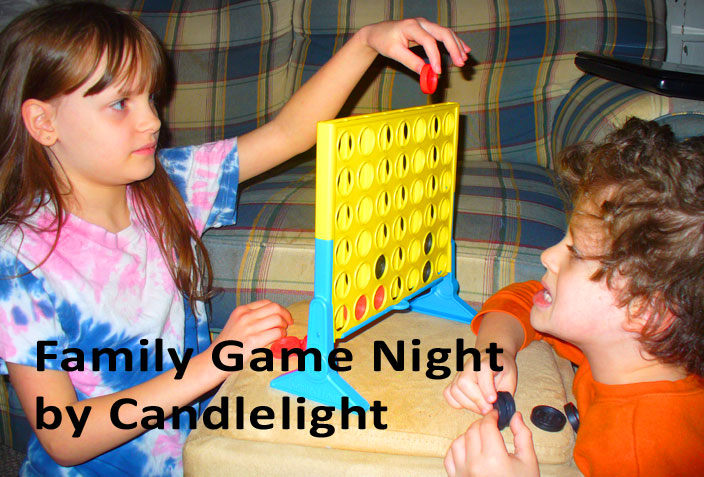 Family Game Night by Candlelight