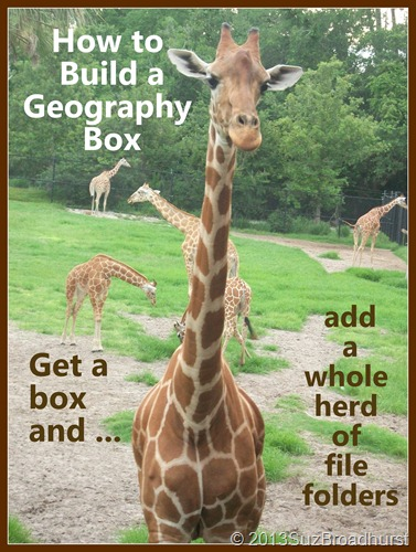 How to Build a Geography Box @SuzBroadhurst @BrightIdeasTeam