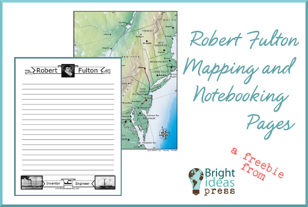 Robert Fulton map and notebooking page